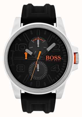 Hugo Boss Orange Reloj de visualización de fecha y día de caucho negro Detroit 1550006
