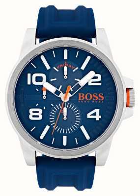 Hugo Boss Orange Reloj de visualización de día y fecha de caucho azul Detroit 1550008