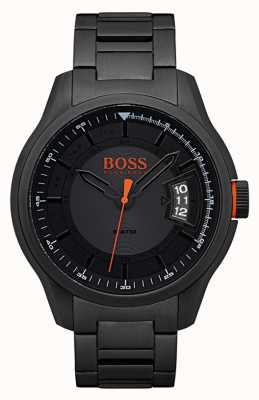 Hugo Boss Orange Hong Kong negro reloj de acero inoxidable 1550005