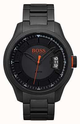 Hugo Boss Orange Hong Kong negro reloj de acero inoxidable 1550005