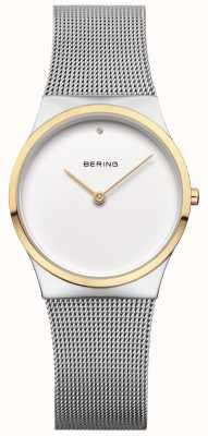 Bering Womans clásica malla de detalle de oro 12130-014
