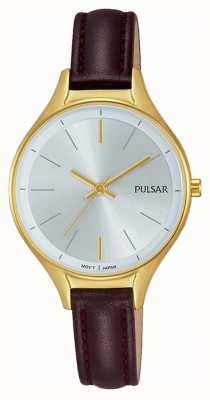 Pulsar Ladies reloj de cuero de oro PH8280X1