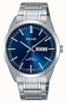 Pulsar Gents reloj de acero inoxidable cara azul PJ6073X1