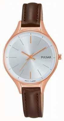 Pulsar Ladies reloj de cuero marrón PH8282X1