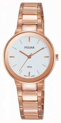Pulsar Reloj chapado en oro rosa para mujer PH8290X1