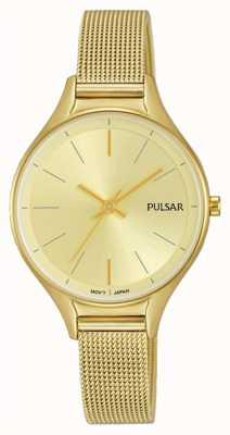 Pulsar Reloj chapado en oro para mujer PH8278X1