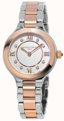 Frederique Constant Clásicos de mujer delicias de acero chapado en oro rosa. FC-200WHD1ER32B