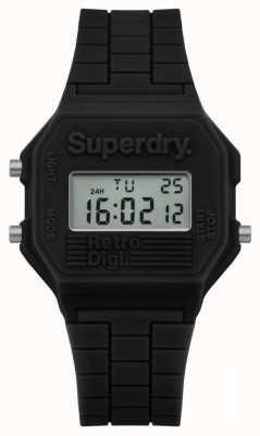 Superdry Mens retro digi negro silicona SYG201B