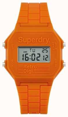 Superdry Mens retro digi naranja silicona SYG201O