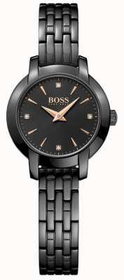Boss Pulsera de acero chapado en acero negro para mujer Success. 1502387
