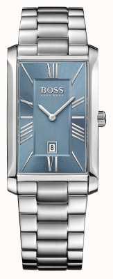 Hugo Boss Mens esfera azul Almirante brazalete de acero inoxidable 1513438