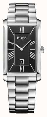 Hugo Boss Mens esfera de color negro Almirante brazalete de acero inoxidable 1513439