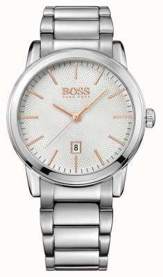 Hugo Boss Para hombre de línea blanca clásica pulsera de acero inoxidable 1513401