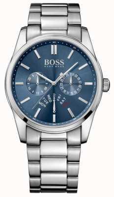 Hugo Boss comandante para hombre pulsera de acero inoxidable esfera azul 1513492