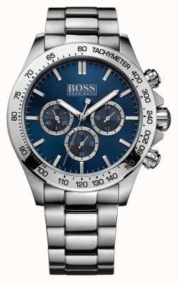 Hugo Boss Para hombre pulsera de acero inoxidable de iconos esfera azul 1512963