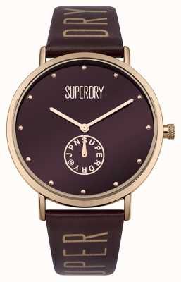 Superdry Womens oxford cristal sub sección mulberry SYL175RRG