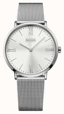 Hugo Boss Mens Jackson de acero inoxidable reloj de plata de la correa de malla 1513459