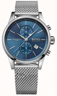 Hugo Boss brazalete de acero inoxidable de malla esfera azul para hombre jet 1513441