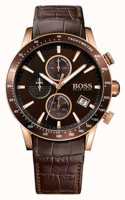 Hugo Boss Rafale de cuero marrón de línea correa de color marrón para hombre 1513392