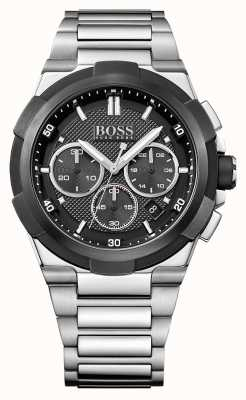 Hugo Boss Mens esfera de color negro brazalete de acero inoxidable de supernova 1513359