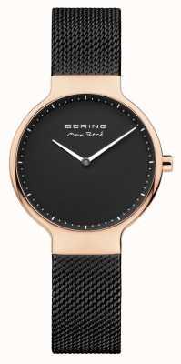 Bering Señoras max rené correa de malla intercambiable negro 15531-262