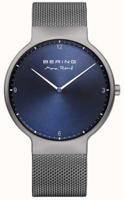 Bering Hombres max rené correa de malla intercambiable gris 15540-077