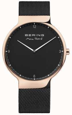 Bering Mens max rené correa de malla intercambiable negro 15540-262