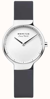Bering Señoras max rené negro correa intercambiable de goma 15531-400