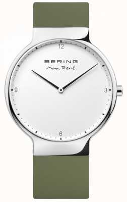 Bering Mens max rené correa de goma verde intercambiable 15540-800