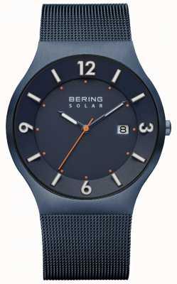 Bering Correa de malla milanesa azul solar para hombre 14440-393