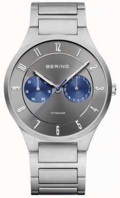 Bering Reloj cronógrafo gris titanio para hombre 11539-777