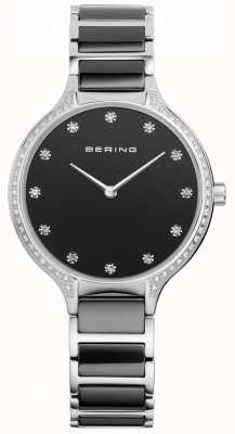 Bering Reloj de cerámica negra de cerámica de las señoras 30434-742