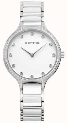 Bering Ladies reloj de cerámica de cerámica blanco conjunto 30434-754
