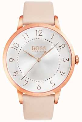 Boss Reloj de cuero rosa eclipse para mujer 1502407