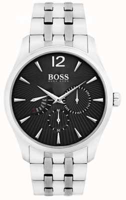 Hugo Boss Dial hombre negro de acero inoxidable 1513493