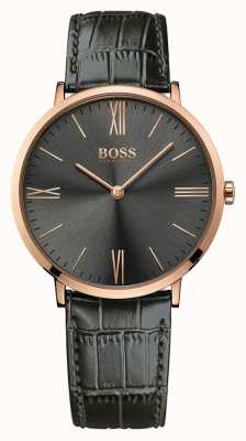 Hugo Boss Mens Jackson reloj de cuero gris 1513372