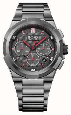 Hugo Boss Mens supernova gris reloj de acero inoxidable 1513361