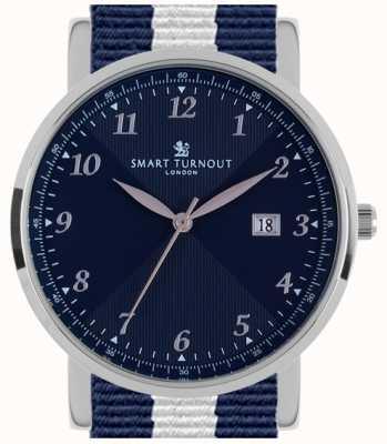 Smart Turnout Savant reloj marino de plata con correa de Yale STH5/SN/56/W