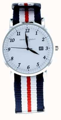 Smart Turnout Savant reloj blanco de plata con correa de Harvard STH5/SW/56/W