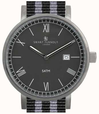Smart Turnout Condado Reloj negro con la correa de la OTAN STK1/BK/56/W