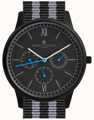 Smart Turnout Reloj del tiempo - negro con la correa de la OTAN STK2/BK/56/W