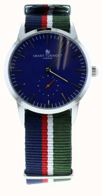 Smart Turnout reloj Firma - azul marino con correa ah STK3/NV/56/W
