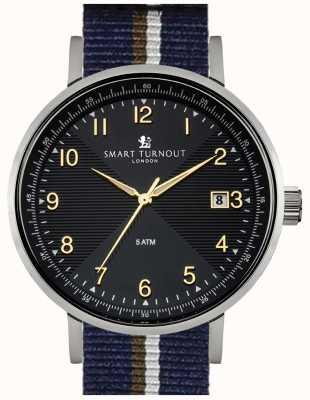 Smart Turnout Académico reloj negro con correa pb STH3/BK/56/W