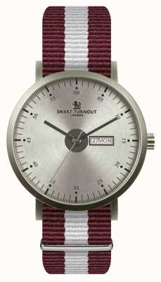 Smart Turnout reloj de la ciudad - plata con correa de Harvard STG1/SV/56/W
