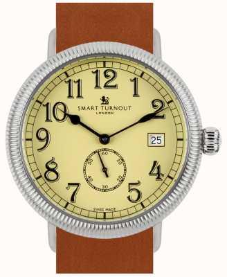 Smart Turnout reloj oficial - beige con correa de piel color canela STG3/BE/56/W