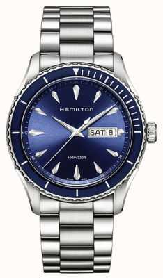 Hamilton Mens jazzmaster vistas al mar azul de la fecha del día H37551141