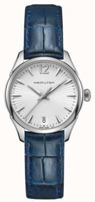 Hamilton Womans jazzmaster de cuarzo de cuero azul H42211655