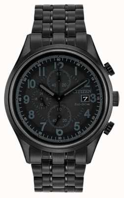 Citizen Para hombre Eco-Drive de metal negro Chandler CA0625-55E