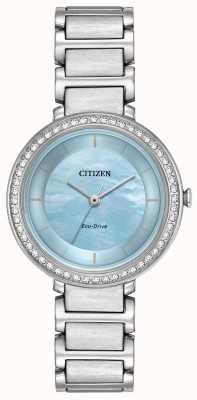 Citizen silueta de cristal de la mujer de conducción ecológica azul EM0480-52N