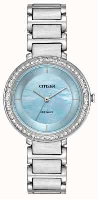 Citizen Womans eco-drive silueta azul cristal EM0480-52N